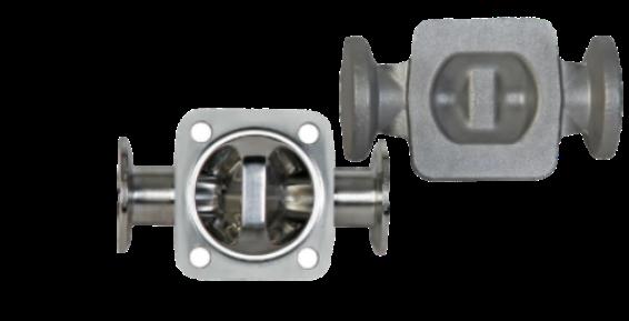 Kovano ohišje membranskega ventila z clamp prirobnicami