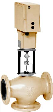 Tropotni ventili z EM pogonom in prirobničnimi priključki