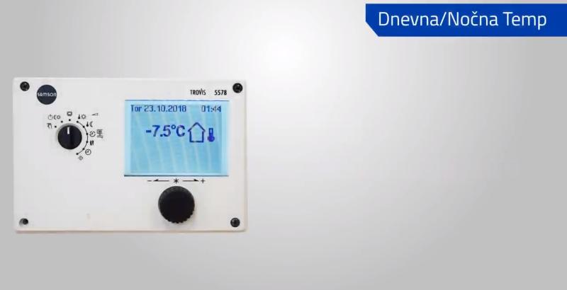 Trovis 5578 - Nastavitev dnevnih in nočnih temperatur
