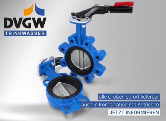 Zaporne lopute z DVGW certifikatom za pitno vodo